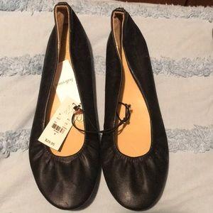 Brand New Black Leather Flats